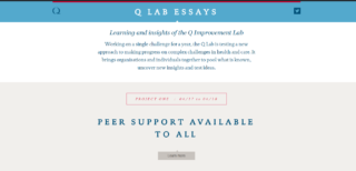 The Lab Essays capture the Lab's learning from our pilot year