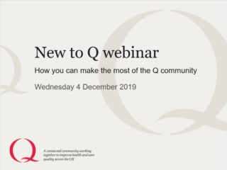View the slides from the New to Q webinar