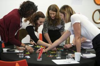 Lab participants at a workshop